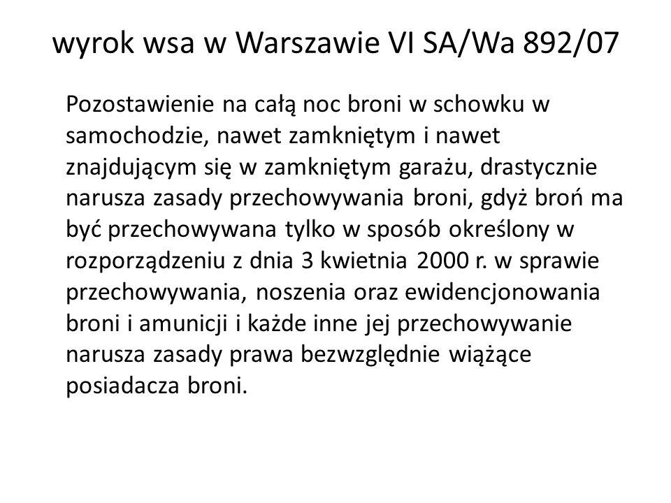 wyrok wsa w Warszawie VI SA/Wa 892/07