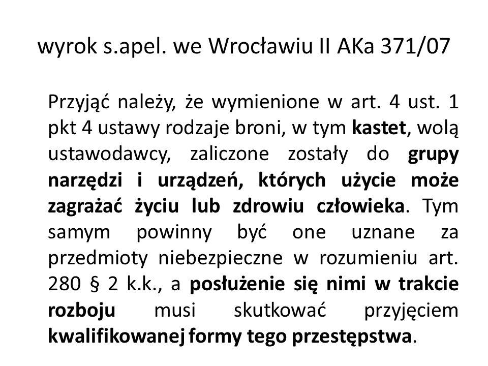 wyrok s.apel. we Wrocławiu II AKa 371/07