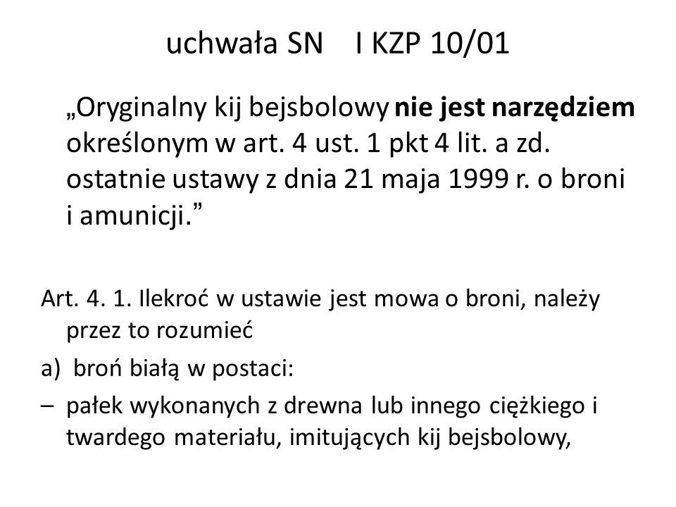uchwała SN I KZP 10/01