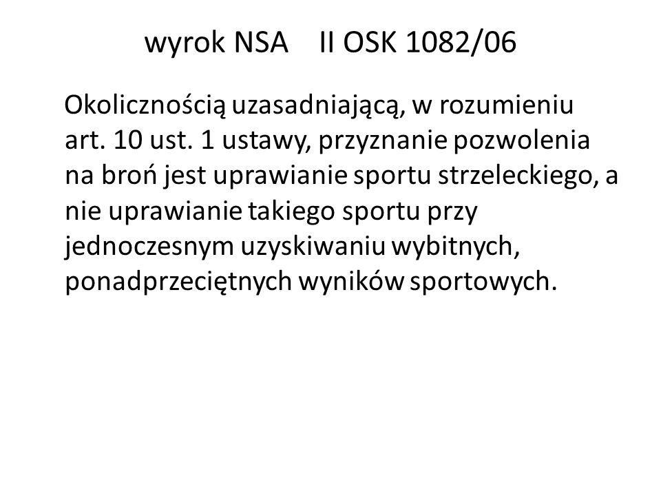 wyrok NSA II OSK 1082/06