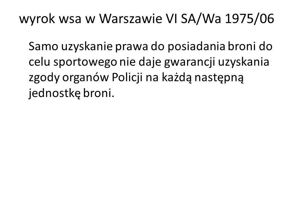 wyrok wsa w Warszawie VI SA/Wa 1975/06