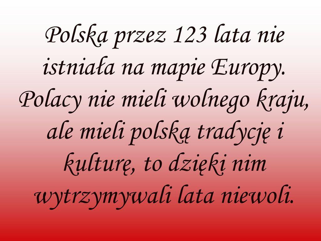 Polska przez 123 lata nie istniała na mapie Europy