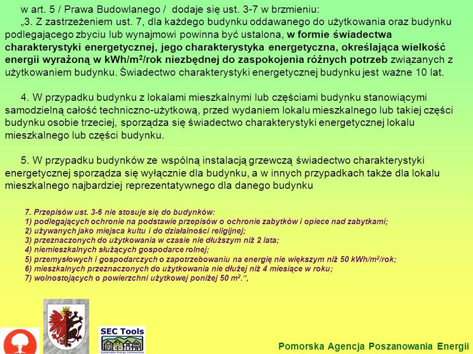 w art. 5 / Prawa Budowlanego / dodaje się ust. 3-7 w brzmieniu:
