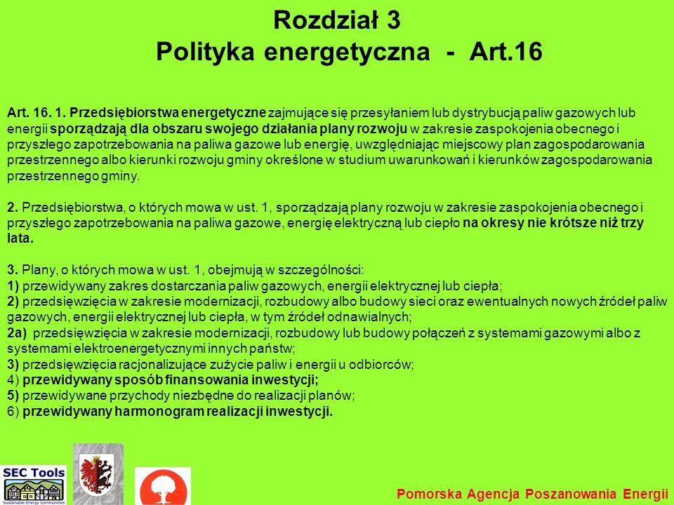 Rozdział 3 Polityka energetyczna - Art.16