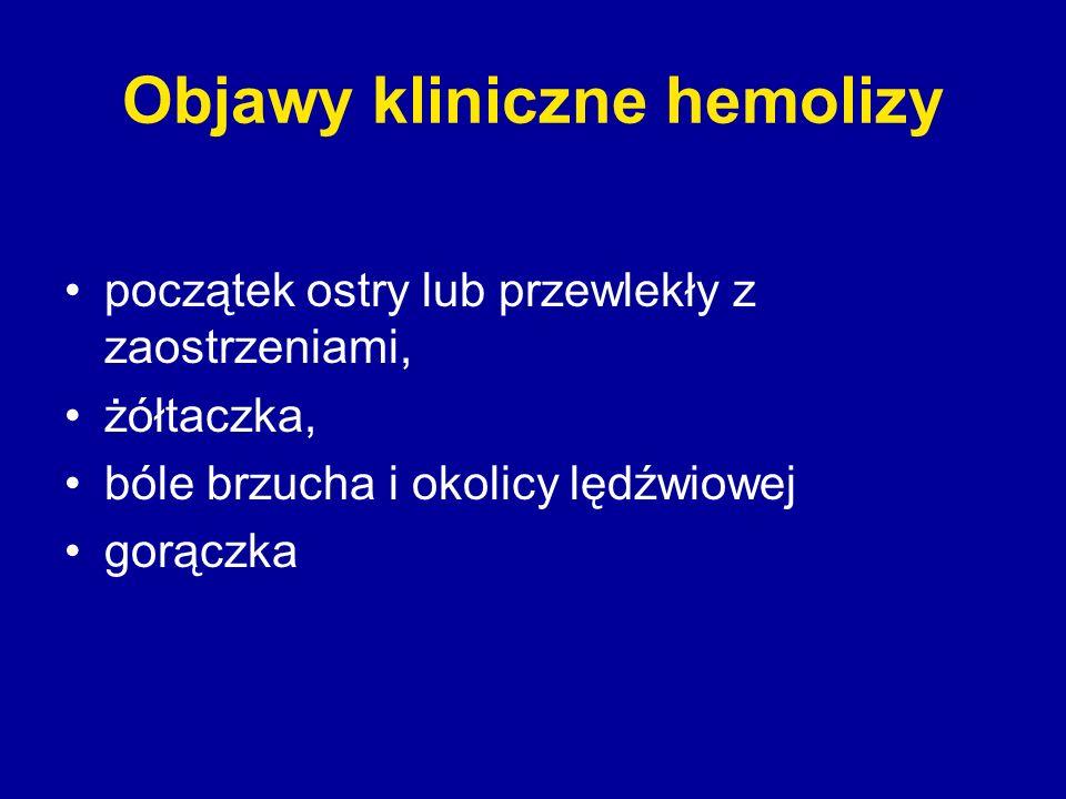 Objawy kliniczne hemolizy