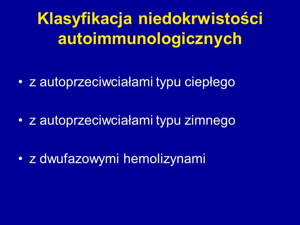 Klasyfikacja niedokrwistości autoimmunologicznych