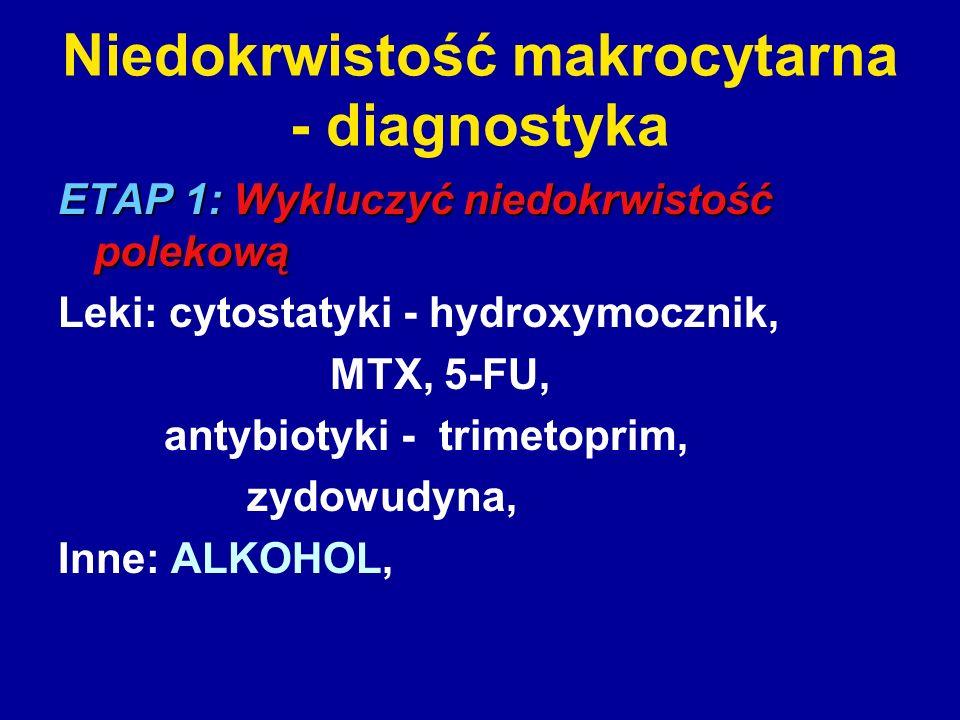 Niedokrwistość makrocytarna - diagnostyka