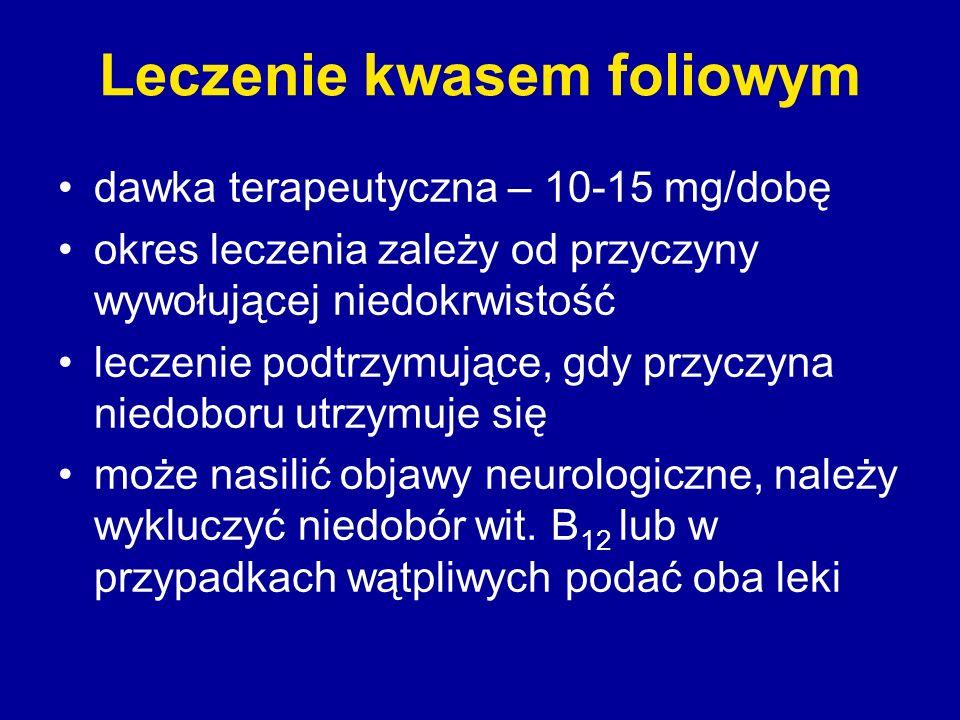 Leczenie kwasem foliowym