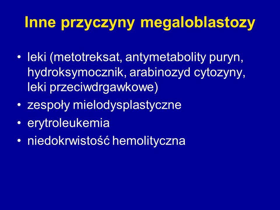 Inne przyczyny megaloblastozy