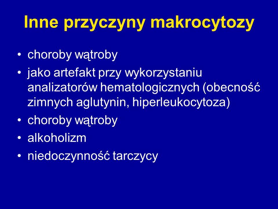 Inne przyczyny makrocytozy