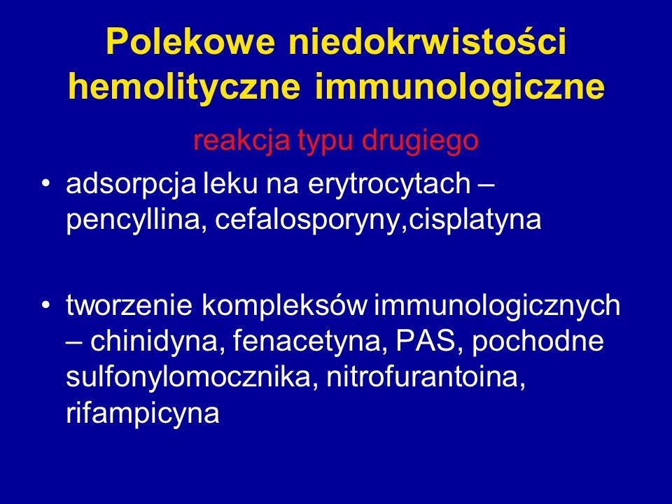 Polekowe niedokrwistości hemolityczne immunologiczne