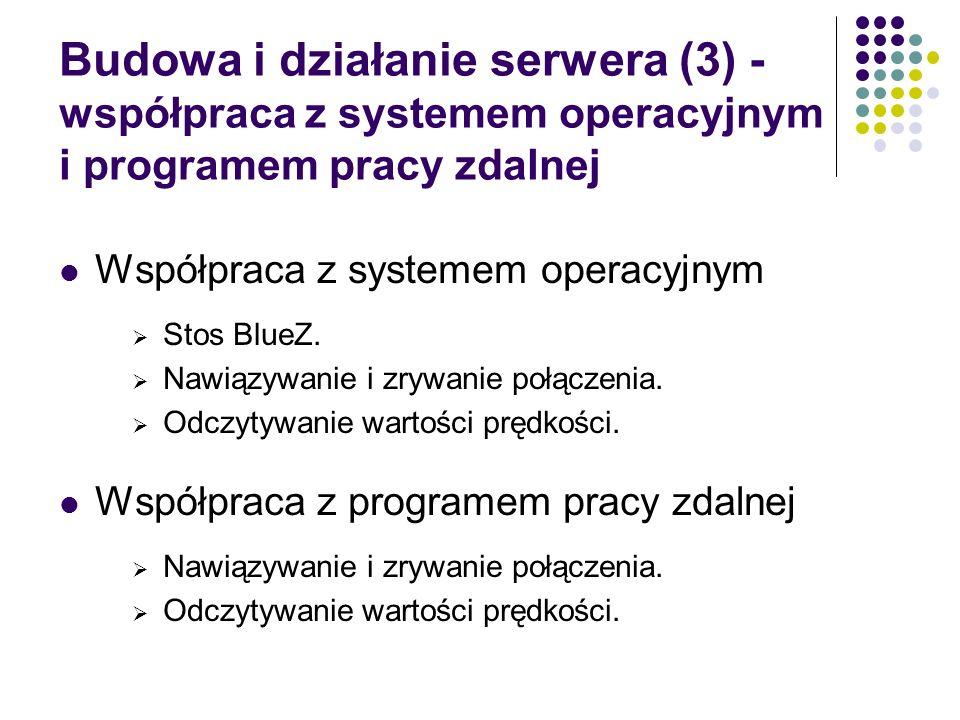 Budowa i działanie serwera (3) - współpraca z systemem operacyjnym i programem pracy zdalnej
