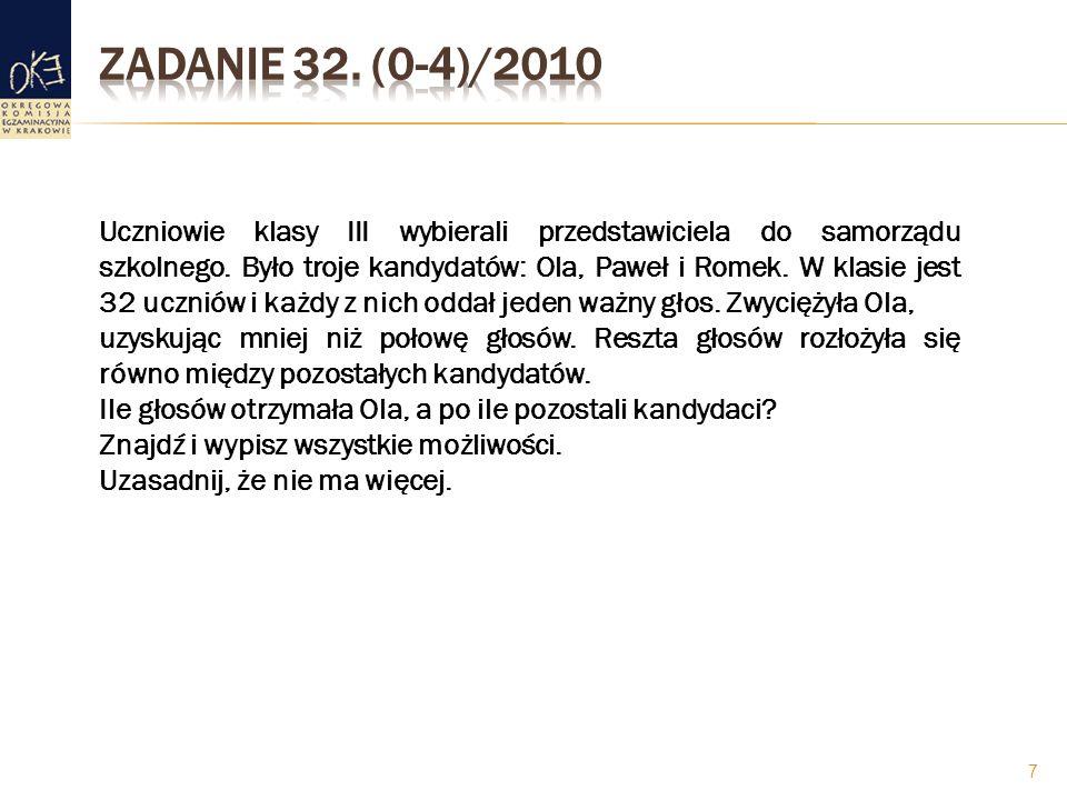 Zadanie 32. (0-4)/2010