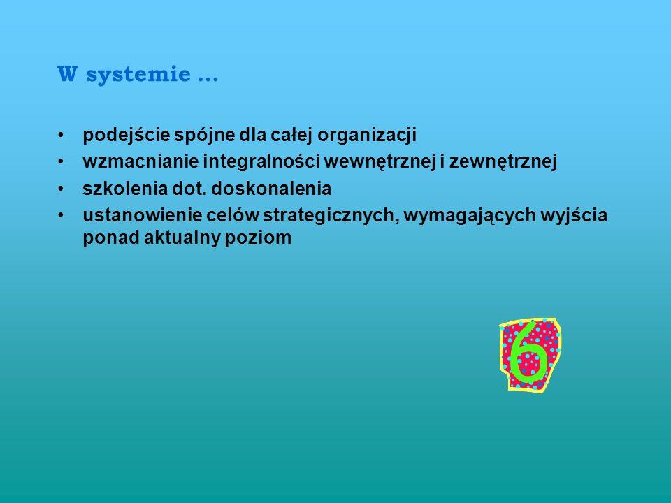 W systemie … podejście spójne dla całej organizacji