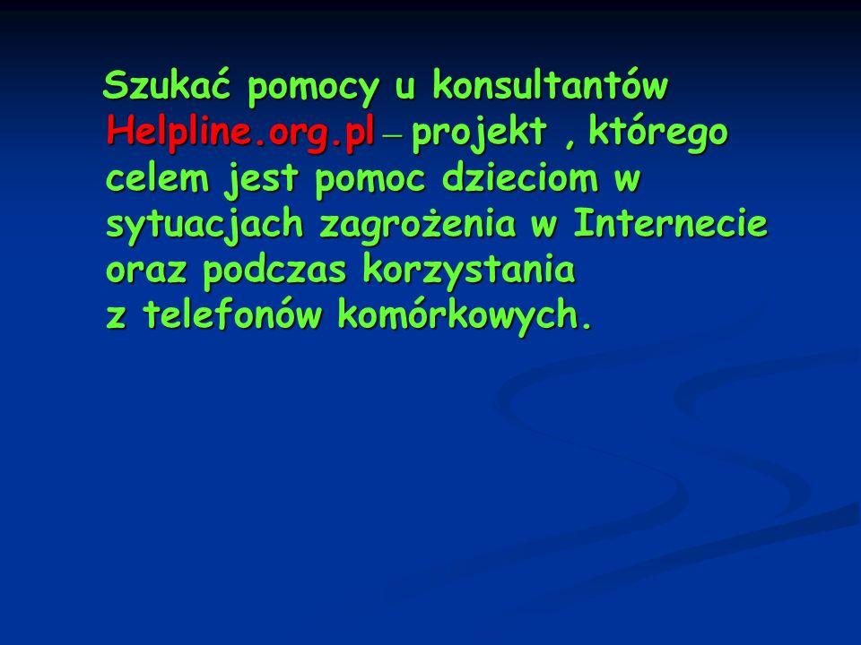 Szukać pomocy u konsultantów Helpline. org