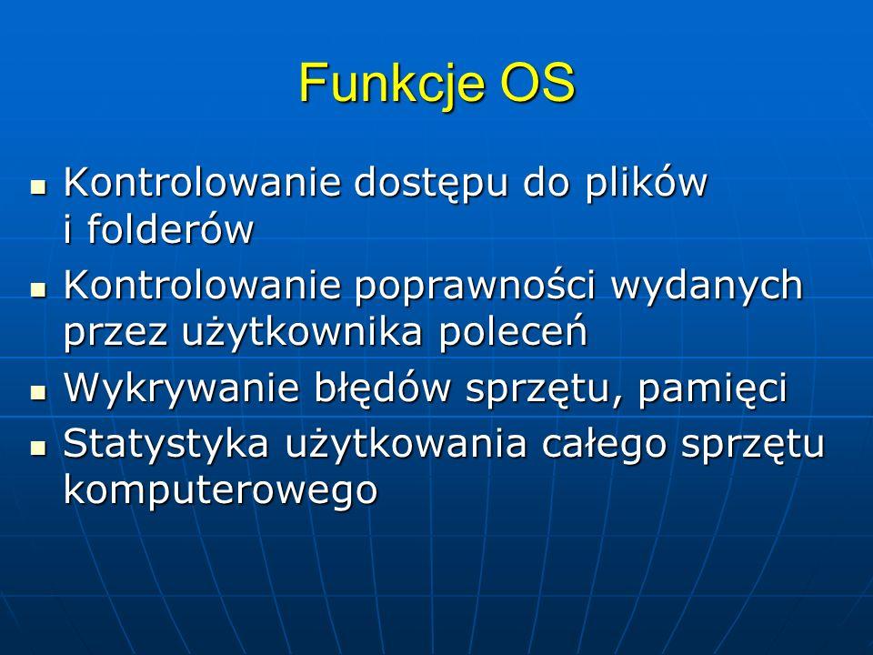 Funkcje OS Kontrolowanie dostępu do plików i folderów
