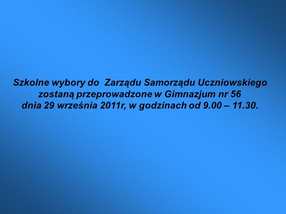 Szkolne wybory do Zarządu Samorządu Uczniowskiego