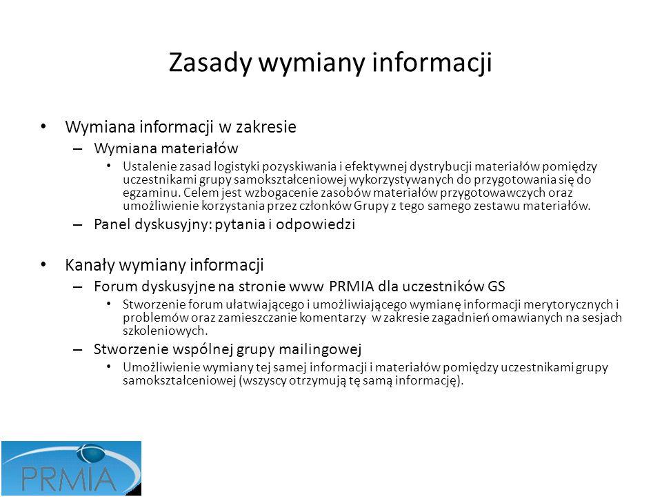 Zasady wymiany informacji