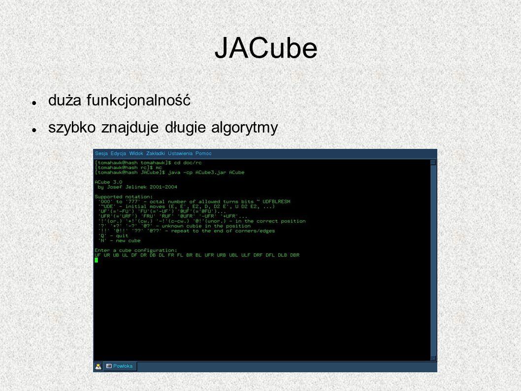 JACube duża funkcjonalność szybko znajduje długie algorytmy