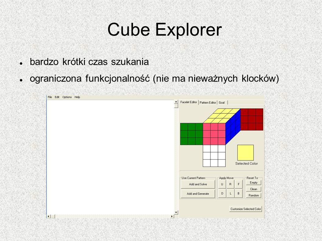 Cube Explorer bardzo krótki czas szukania