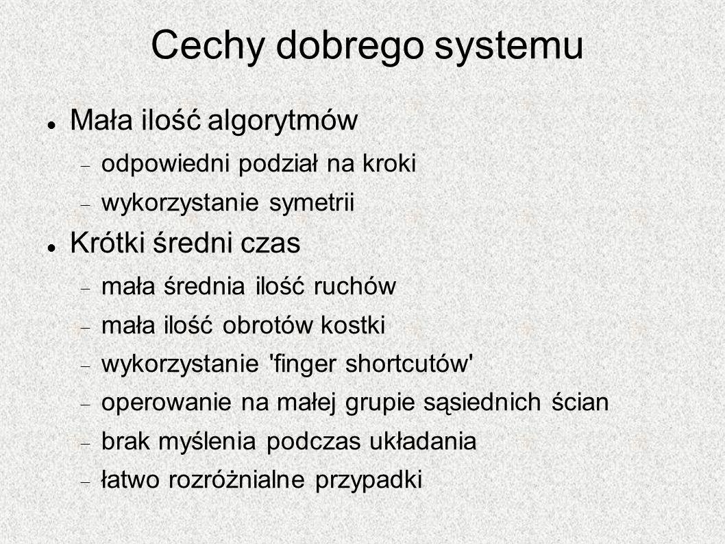 Cechy dobrego systemu Mała ilość algorytmów Krótki średni czas