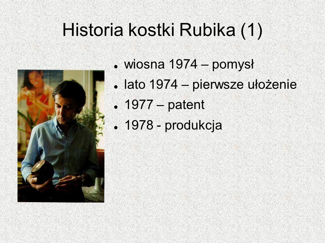 Historia kostki Rubika (1)