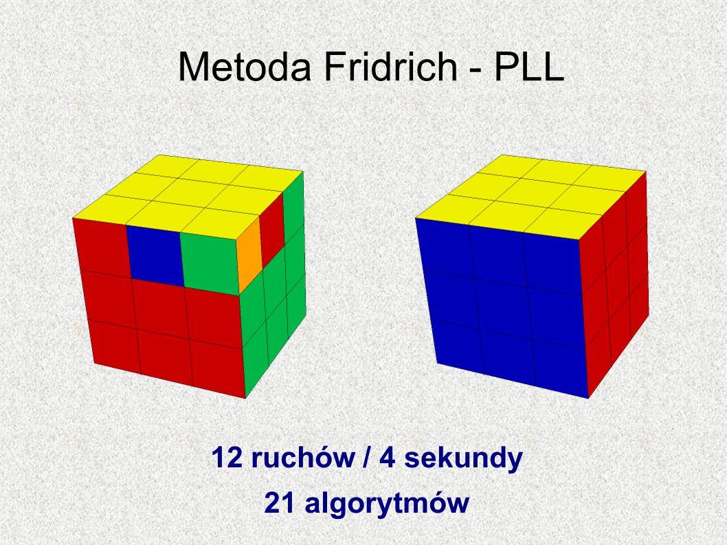Metoda Fridrich - PLL 12 ruchów / 4 sekundy 21 algorytmów