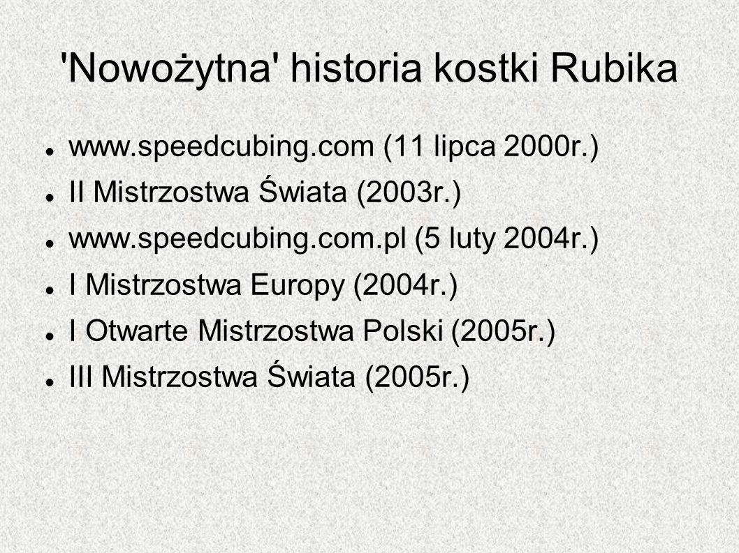 Nowożytna historia kostki Rubika