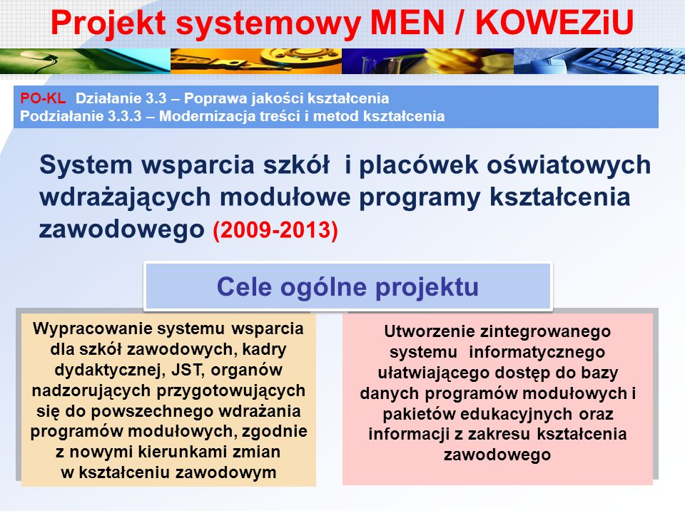 Projekt systemowy MEN / KOWEZiU