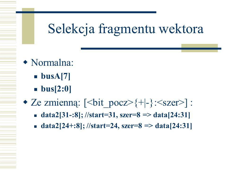 Selekcja fragmentu wektora