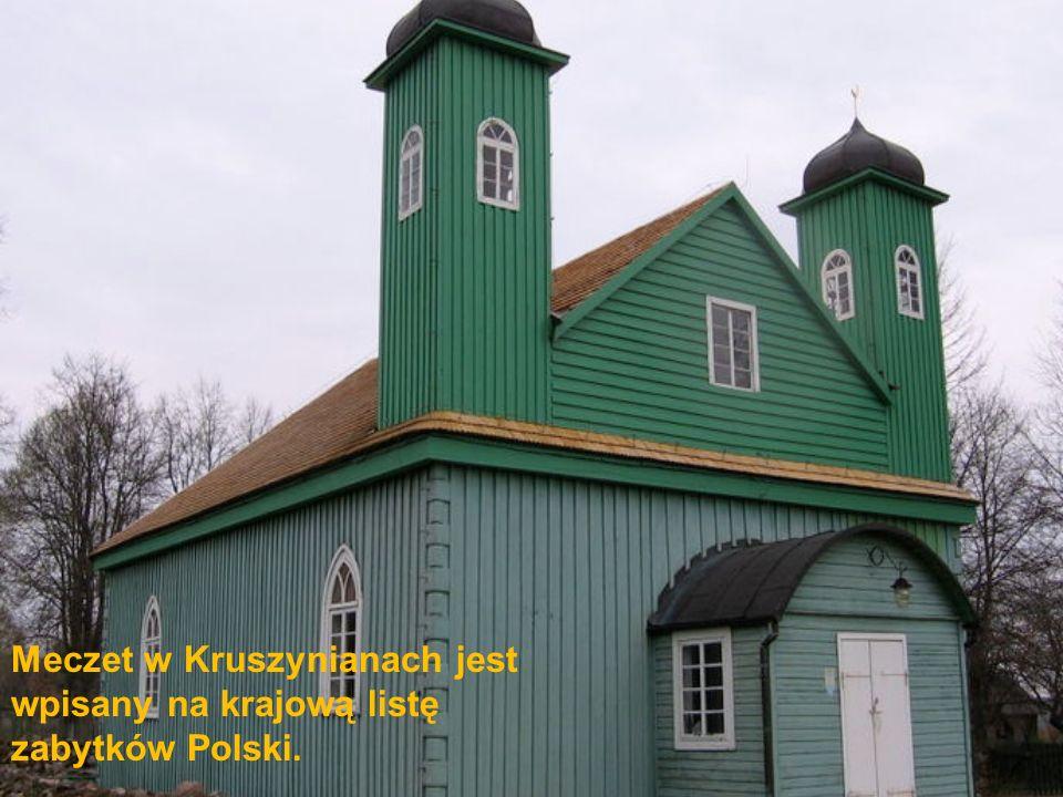 Meczet w Kruszynianach jest wpisany na krajową listę zabytków Polski.
