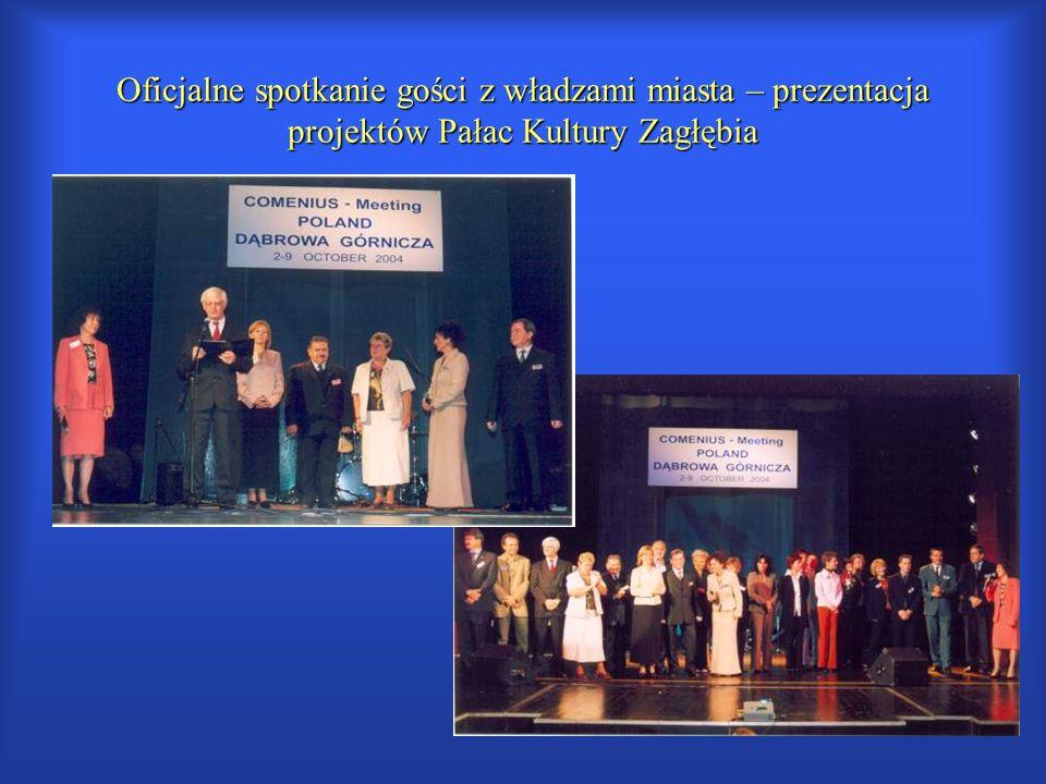 Oficjalne spotkanie gości z władzami miasta – prezentacja projektów Pałac Kultury Zagłębia
