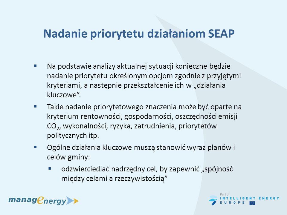 Nadanie priorytetu działaniom SEAP