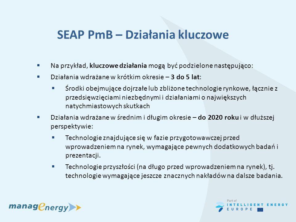 SEAP PmB – Działania kluczowe