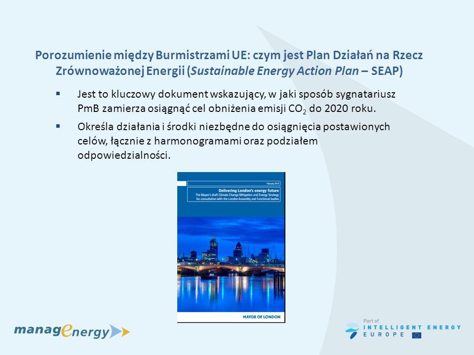 Porozumienie między Burmistrzami UE: czym jest Plan Działań na Rzecz Zrównoważonej Energii (Sustainable Energy Action Plan – SEAP)
