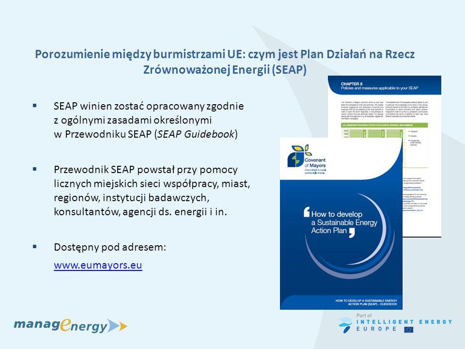 Porozumienie między burmistrzami UE: czym jest Plan Działań na Rzecz Zrównoważonej Energii (SEAP)