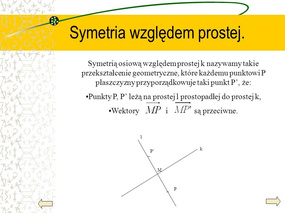 Symetria względem prostej.