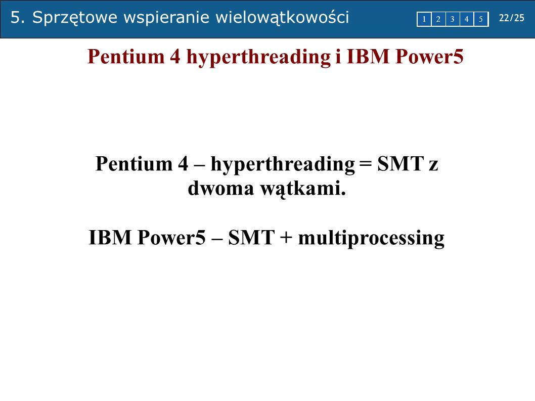 Pentium 4 hyperthreading i IBM Power5