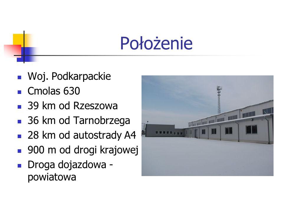 Położenie Woj. Podkarpackie Cmolas 630 39 km od Rzeszowa