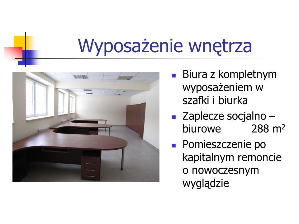 Wyposażenie wnętrza Biura z kompletnym wyposażeniem w szafki i biurka
