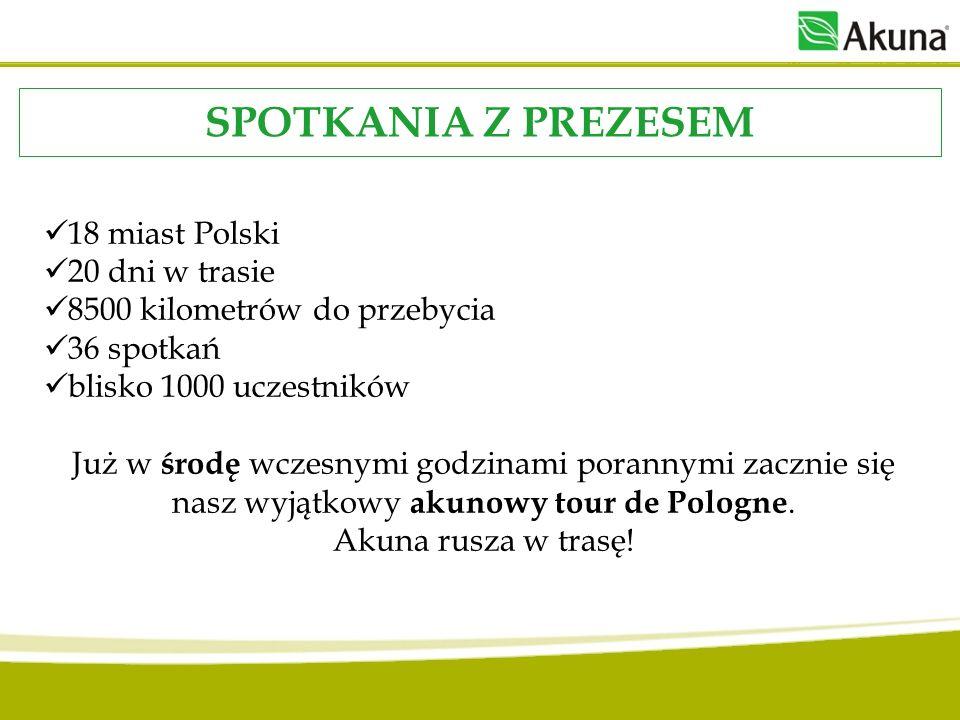 SPOTKANIA Z PREZESEM 18 miast Polski 20 dni w trasie