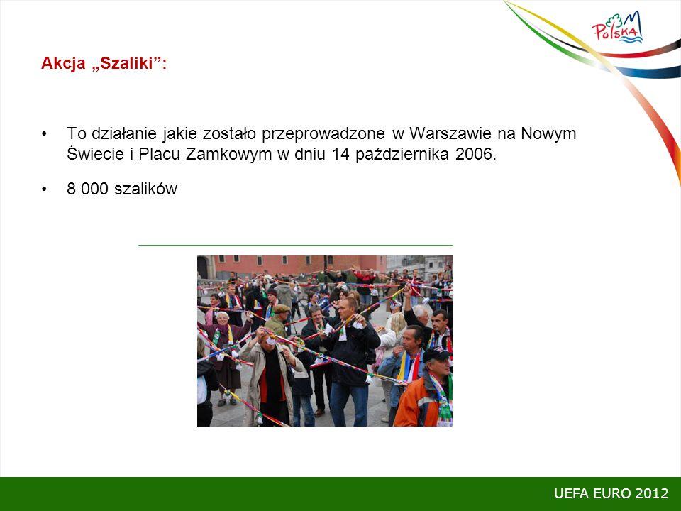 """Akcja """"Szaliki : To działanie jakie zostało przeprowadzone w Warszawie na Nowym Świecie i Placu Zamkowym w dniu 14 października 2006."""