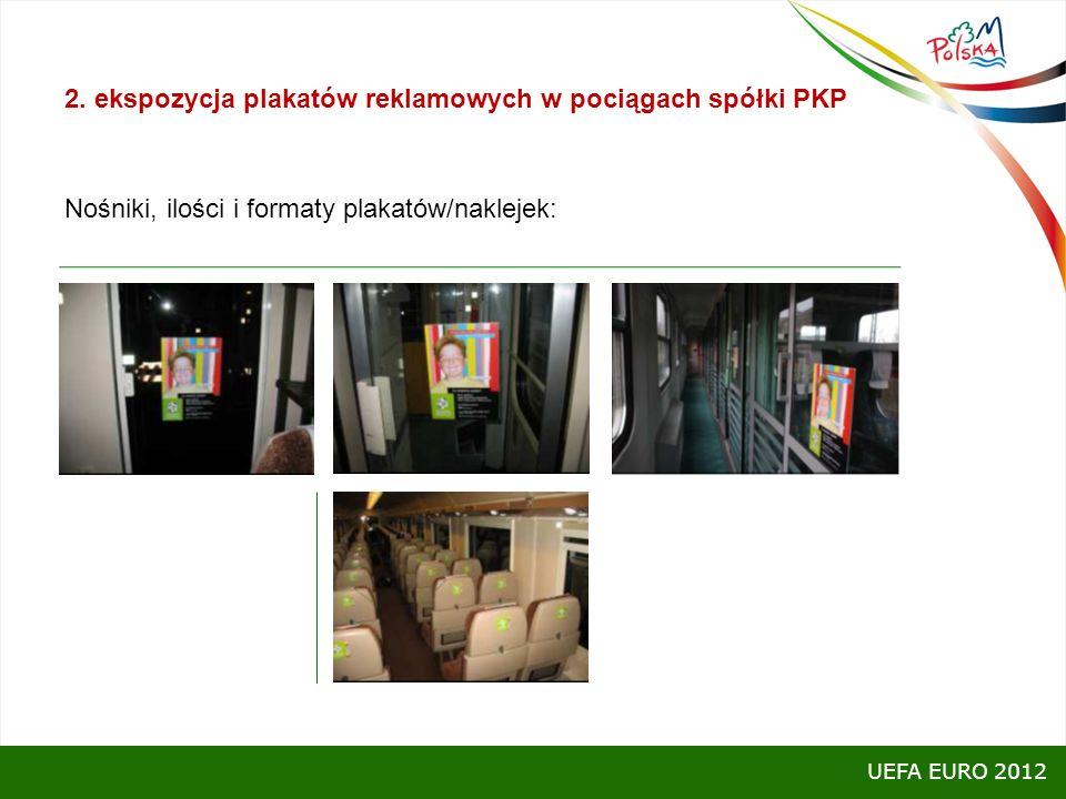 2. ekspozycja plakatów reklamowych w pociągach spółki PKP