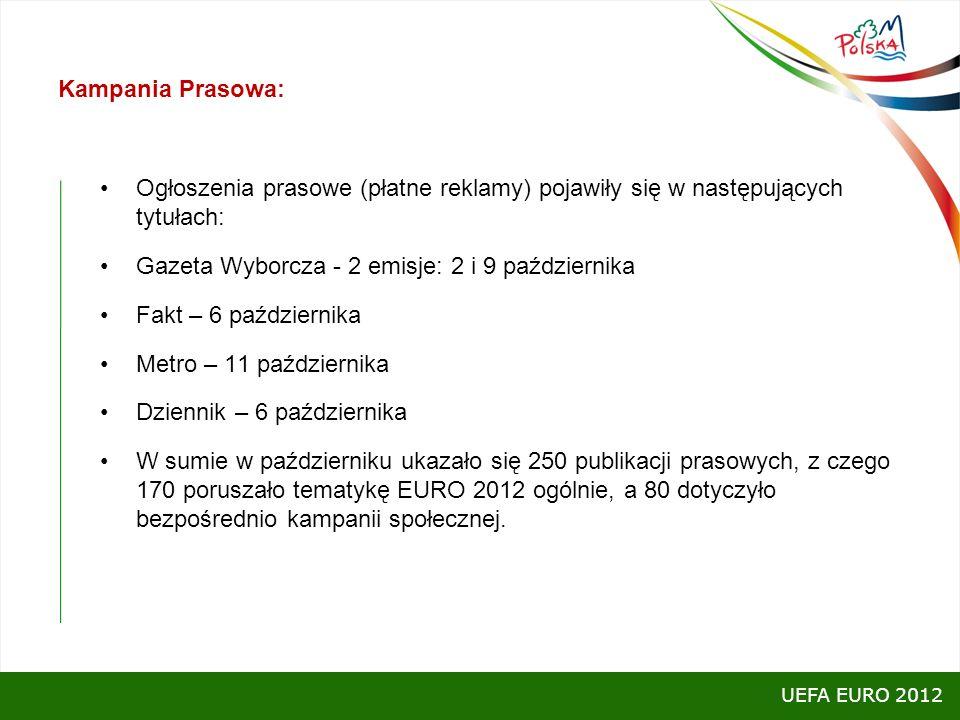 Gazeta Wyborcza - 2 emisje: 2 i 9 października Fakt – 6 października