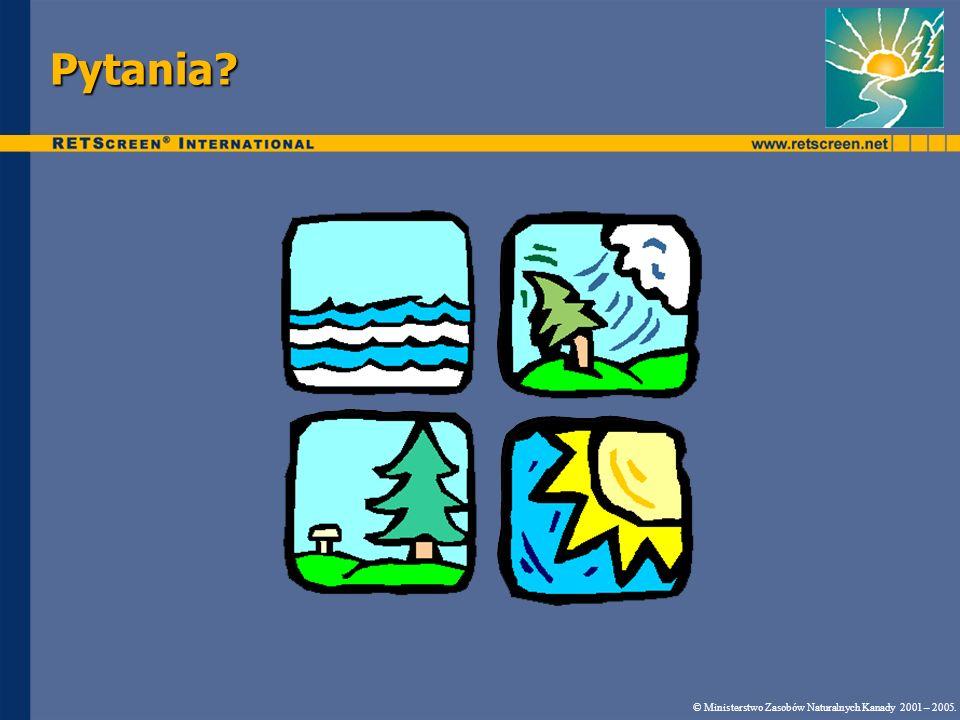 Pytania © Ministerstwo Zasobów Naturalnych Kanady 2001 – 2005.