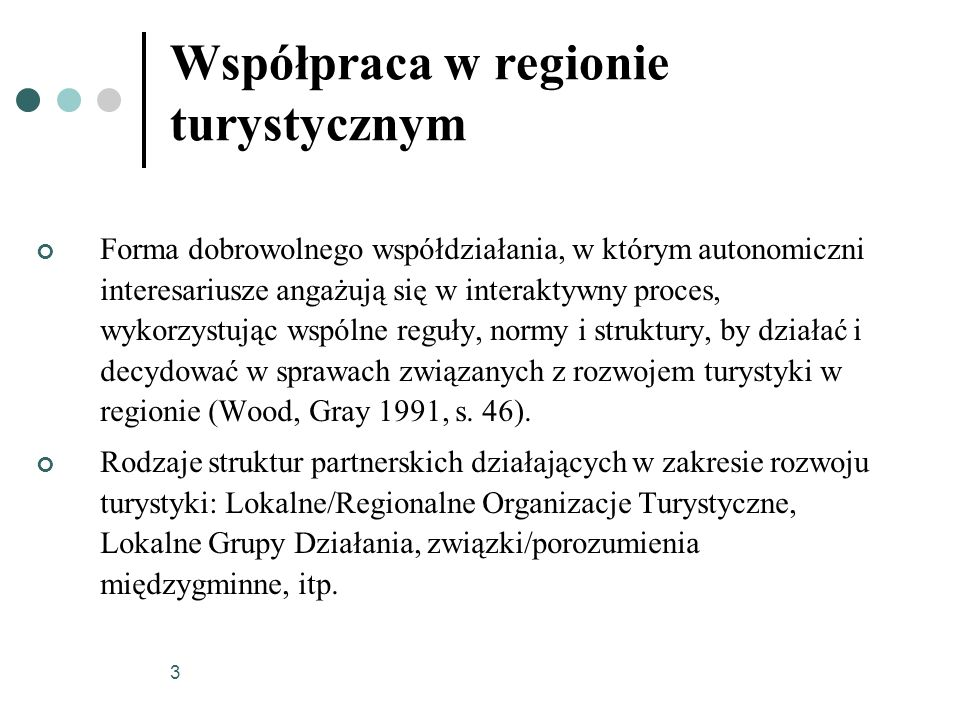 Współpraca w regionie turystycznym