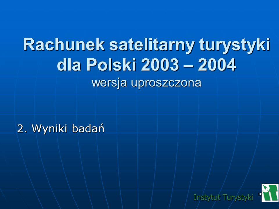 Rachunek satelitarny turystyki dla Polski 2003 – 2004 wersja uproszczona