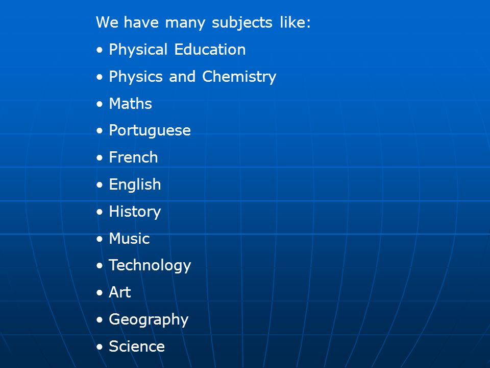 We have many subjects like: