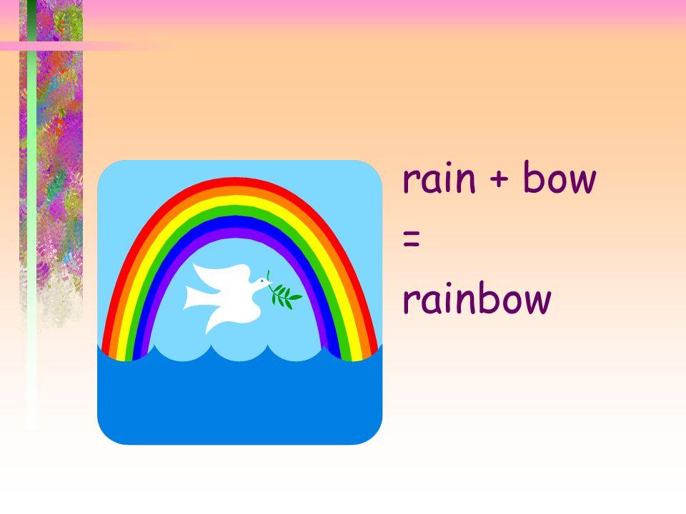rain + bow = rainbow