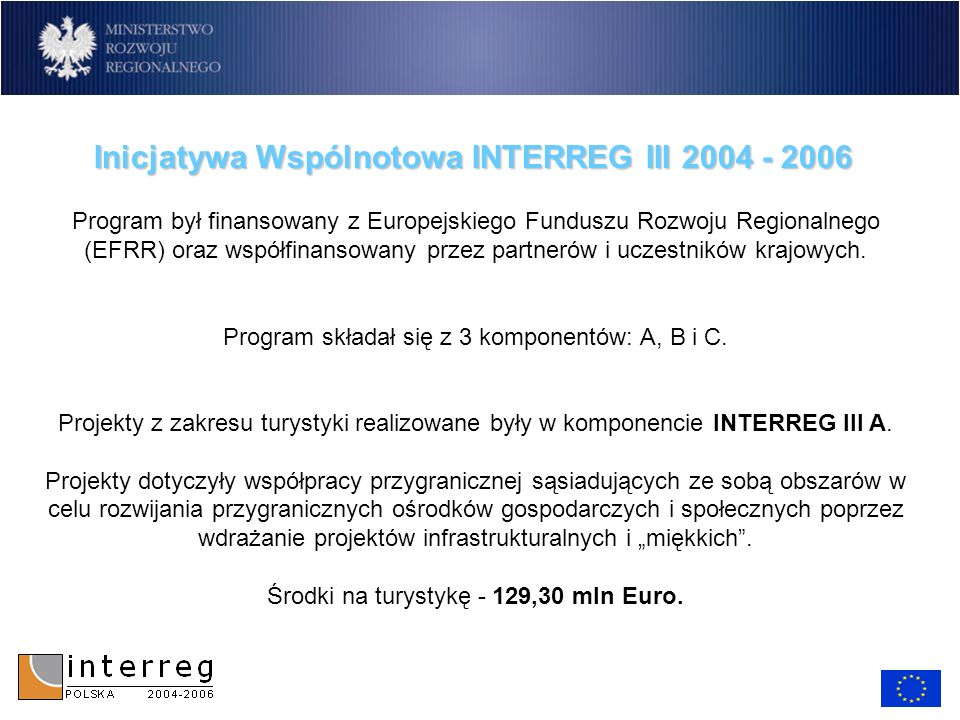 Inicjatywa Wspólnotowa INTERREG III 2004 - 2006